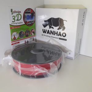 Wanhao PLA Translucent Red 1.75mm 1kg