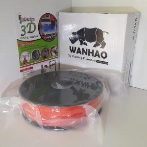 Wanhao PLA Translucent Orange 1.75mm 1kg