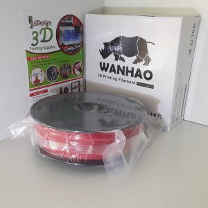 Wanhao PLA+ Red 1.75mm 1kg